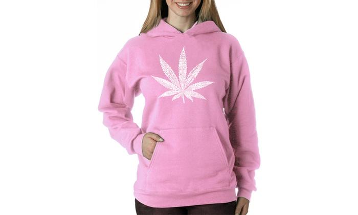 Women's Hooded Sweatshirt -50 DIFFERENT STREET TERMS FOR MARIJUANA