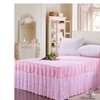 Princess Lace Cotton Bed Skirt Bed Cover Pure Color King Size Sheets