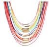 Bohemia Multilayer Wax Rope Choker Necklace for Women