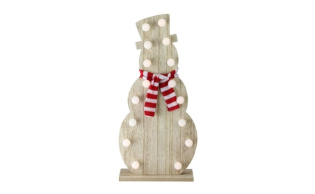 Battery Operated Decorative Wooden LED Lighted Snowman Tabletop Decor 06cdbb4d-6555-4fbf-97bf-f82747829957