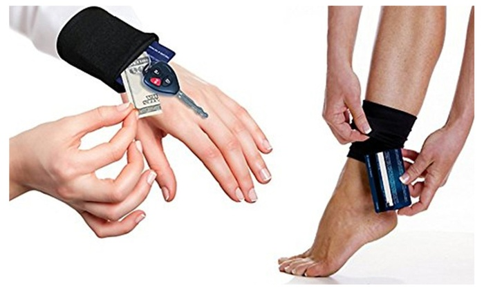 Premium Tuck Away Fitness Wrist and Ankle Wallet Transform
