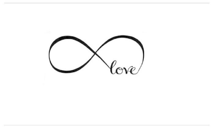 Infinity Symbol Word Love Vinyl Art Wall Sticker Wall Decal Groupon