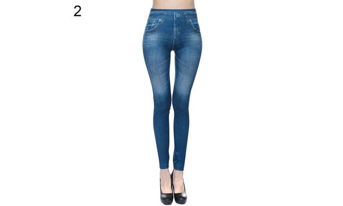 70b6fa6412d ... Women Skinny Jeggings Stretchy Denim Pants Leggings Jeans Pencil Tight  Trousers