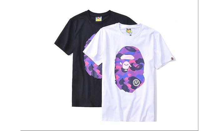 A Bathing Ape Purple/Pink Bape Camo T-Shirt