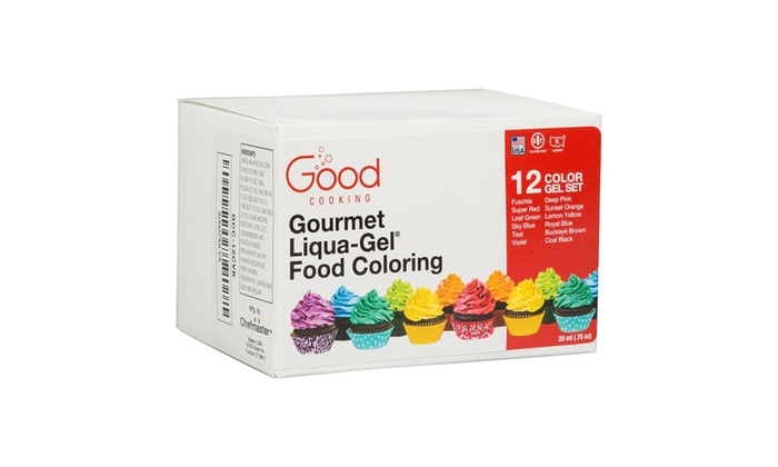 Food Coloring Liqua-Gel - 12 Color Variety Kit in .75 fl. oz ...