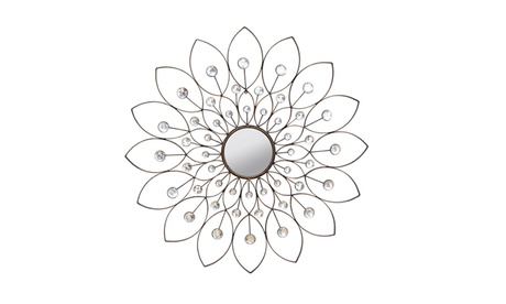 Stratton Home Decor Decorative Flower Mirror df5d9a62-4509-4cdd-a789-c0d3f74223bb