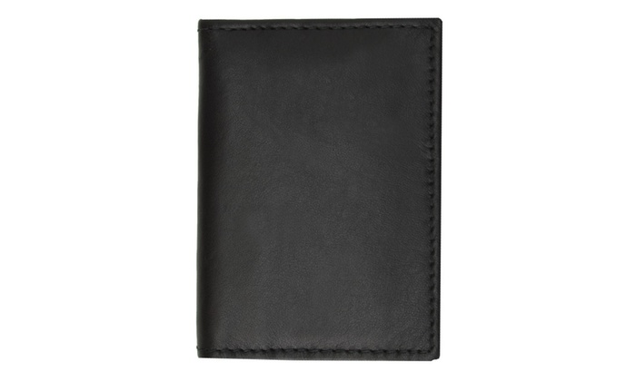 Slim Leather Lambskin Credit Card ID Mini Thin Wallet Holder Bifold