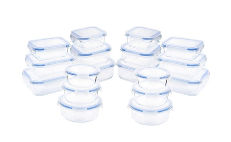 Kinetic GoGreen Glassworks Elements 36PC Food Storage Container Set 894e849f-e5c0-4251-8201-963b92f6dd6b
