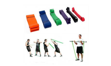 Exercise Resistance Bands Loop Crossfit Yoga Pull Up Fitness Strength Training