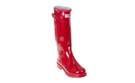 Women Red Classic Rubber Rain Boots d80c2392-9032-4412-a716-15415dbd8fe7