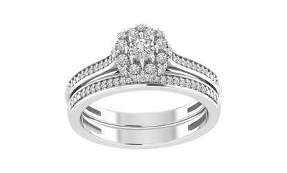 Groupon 1 4 Cttw Round Diamond Las Engagement Wedding Bridal Set Ring 10kt Gold