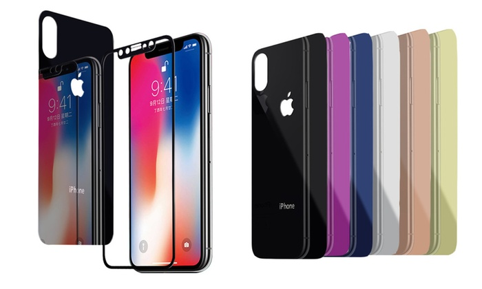 hot sale online 94ae1 2ccd7 Front Back Mirror Tempered Glass Screen Protector Fr Apple iPhone X ...