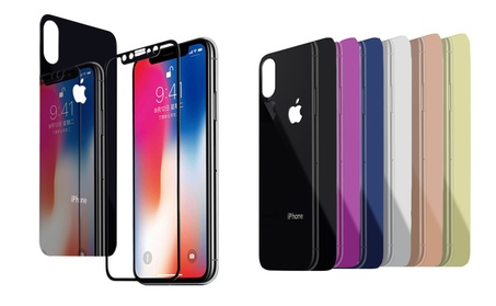 Front Back Mirror Tempered Glass Screen Protector Fr Apple iPhone X/10 53ac39c7-ec66-4cff-b850-6cd7b7626075