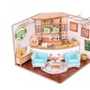 Colombian Coffee House Room DIY Dollhouse Kit With LED Light Wood