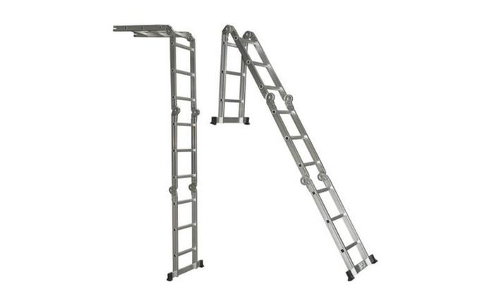 Aluminum Ladder Folding Step Ladder Extendable Heavy Duty