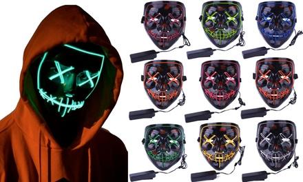 Halloween LED Purge Mask Light Up Funny Masks Was: $49.99 Now: $9.99.