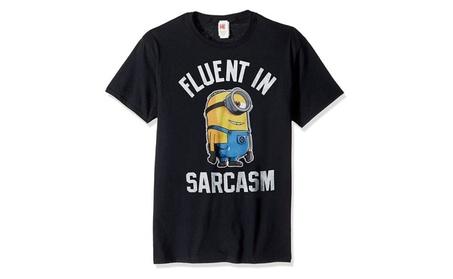 Despicable Me Men's Minions Stuart Fluent in Sarcasm Tee 5a9dd3c9-cda7-4338-b4ba-aa8b9b59ba6d