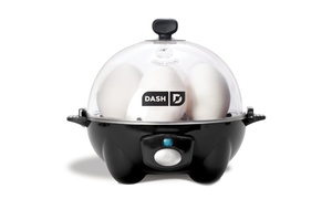 Dash Rapid Egg Cooker, 6 Egg Capacity, Black