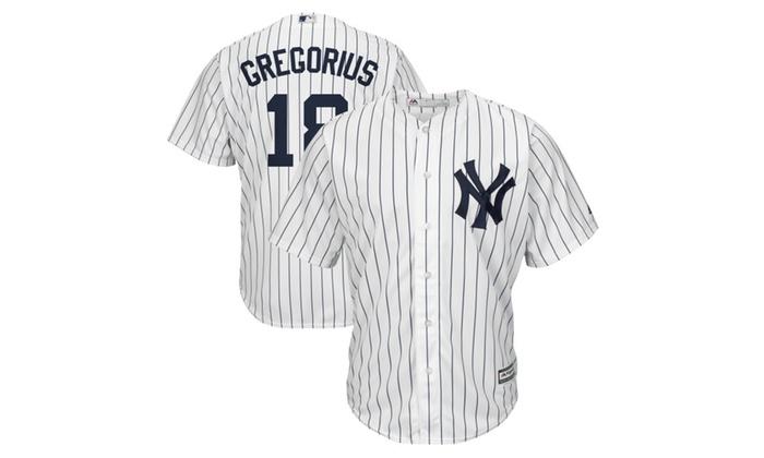 watch f6d41 661c8 Mens New York Yankees Didi Gregorius White Base Home Player ...