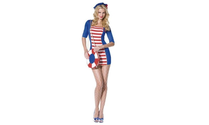 Women's 1/2 Sleeve Striped Casual Slim Fit Pullover Cosplay - As Picture / One Size