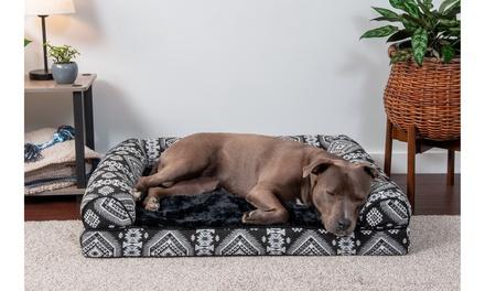 FurHaven Cooling Gel, Orthopedic, or Memory Foam Southwest Sofa Dog Bed