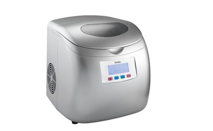 Knox Portable Compact Ice Maker w/LCD Display (Silver)-26.5 Lbs of Ice