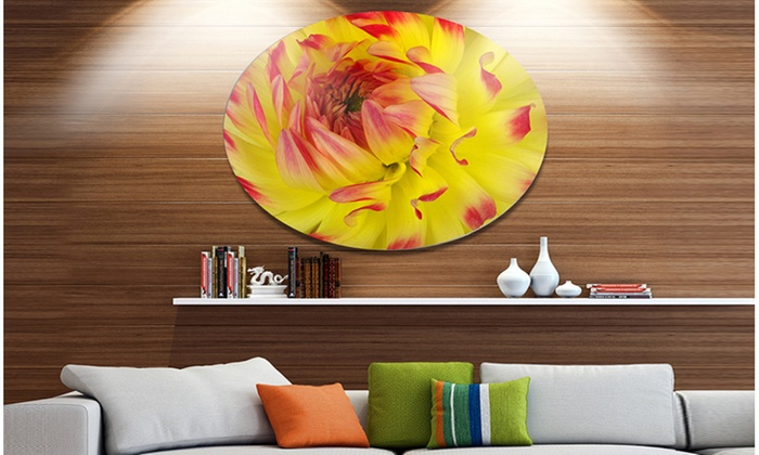 Up To 23% Off on Smooth Yellow Red Flower Peta... | Groupon Goods