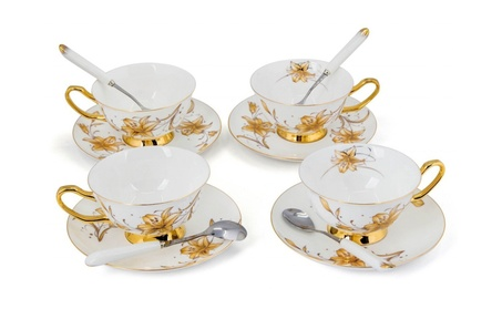 Porcelain Tea Cup and Saucer Coffee Cup Set TC-JBH 576a3d44-e1ab-4523-9cd5-b9c95f63f685