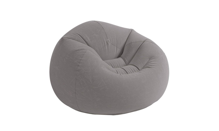 Awe Inspiring Intex Beanless Bag Inflatable Chair 42 X 41 X 27 Gray Pabps2019 Chair Design Images Pabps2019Com