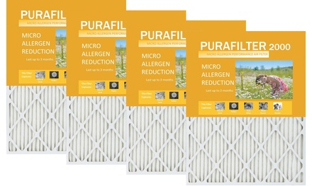 Purafilter Gold High-Efficiency Furnace Air Filters MERV 11 (4-Pack)