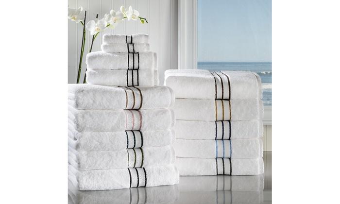 Superior 900gsm Cotton Hotel Collection Bath Towel Set 2 Pack