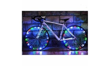 LED Bicycle Bike Cycling Rim Light Auto Open & Close Wheel Spoke Light String