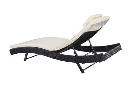 Adjustable Pool Chaise Lounge Chair Outdoor Patio Furniture PE Wicker 88ddbc57-f97e-4f38-95ba-e3d2ef42fbbb