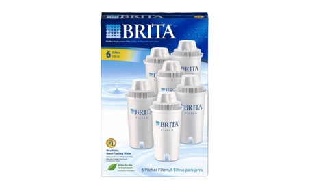 Brita Replacement Water Filter for Pitchers, 6 Count. 17d54738-dd26-4510-98d3-38490635e42d