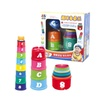 Educational Stacking Toy Numbers Letters Learning Toy Cup Stack Block