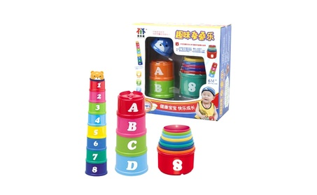 Kid Educational Stacking Toy Numbers Letters Learning Toy Cup Block 071053f0-6b56-4316-9912-d375f30d5b42