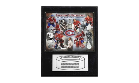 "NHL 12""x15"" Montreal Canadiens 24-Time Stanley Cup Champions Plaque e17f9704-3ba0-48ae-8ae6-75b1e6ffe0ad"
