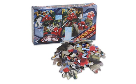 Marvel Ultimate Spider-Man 12-piece Puzzle 4-pack 8a209476-2dbe-4709-b5e9-4c4e130a7bbb