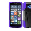 Insten Hard Hybrid Case For Microlumia 640 Black/purple