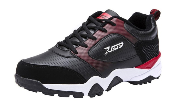 Men's Solid PU Breathable Sneakers