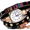 Gold Leaf Fabric Sport Wrist Watch For Women