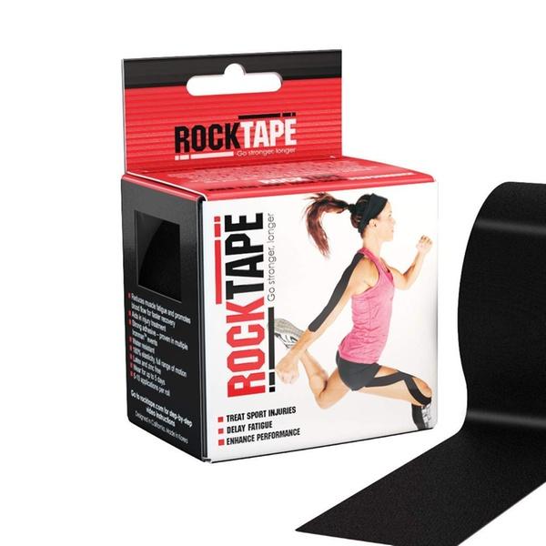 RockTape Original 2-Inch Water-Resistant Kinesiology Tape Black B