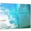 Blue Waves Arch Seascape Photo Metal Wall Art 28x12