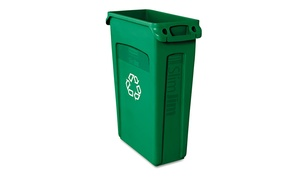 Rubbermaid Comm. Prod. Slim Jim Recycling Container W/Venting, 23gal