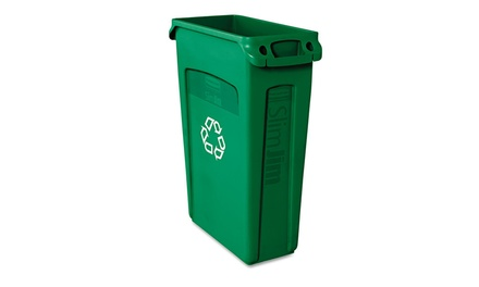 Rubbermaid comm prod slim jim recycling container w for Slim jim air conditioner