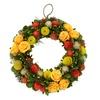 """12.4"""" Shades of Yellow/Green Mixed Garden Floral Artificial Wreath"""