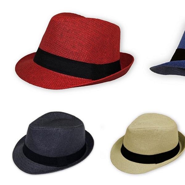 30bcae09af Unisex Fedora Straw Hat