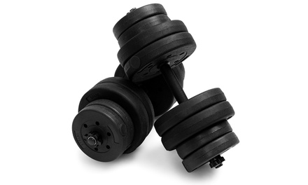 Costway 66 LB Dumbbell Weight Set Fitness 16 Adjustable Plates Workout