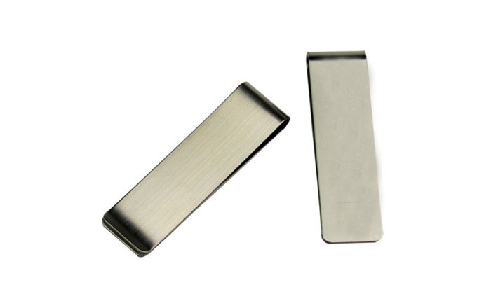 Silver Color Stainless Steel Slim Money Clip Wallet