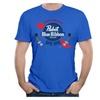 Men's Fuli Lin Men's Pabst Blue Ribbon T-shirts RoyalBlue